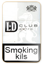 LD Extra Club Silver Cigarette Pack