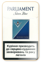 Parliament Extra Lights (Silver Blue) Cigarette Pack