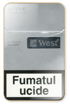 West Fusion Silver Cigarette Pack