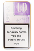 LD Super Slims Violet Cigarettes pack