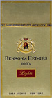 BENSON HEDGE GOLD LIGHT BOX 100