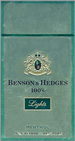 BENSON HEDGE LIGHT MENTHOL BOX 100