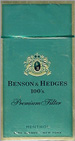 BENSON HEDGE MENTHOL BOX 100