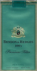 BENSON HEDGE MENTHOL SP 100