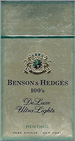 BENSON HEDGE ULTRA LT MENTHOL BOX 100